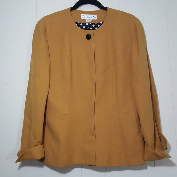 Dior Jackets & Blazers - Christian Dior hidden button front blazer size 10